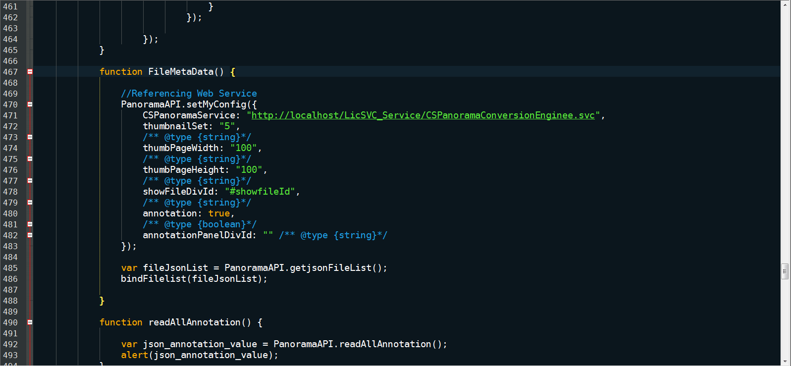 Clean HTML and JavaScript API