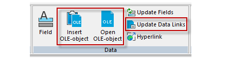 New OLE Object Commands
