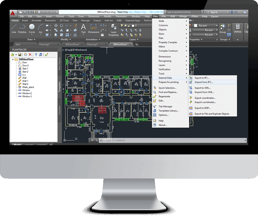 link access to autocad
